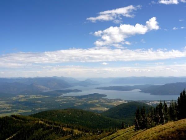 valley view from Schweitzer Mountain