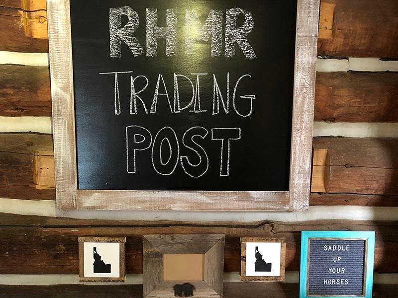 RHMR Trading Post chalkboard