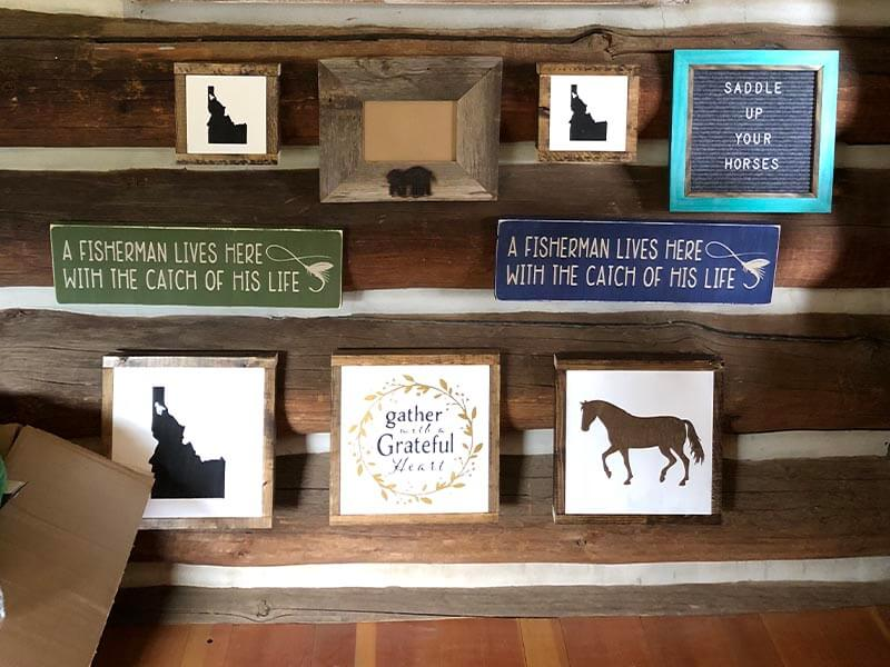 trading post framed signs